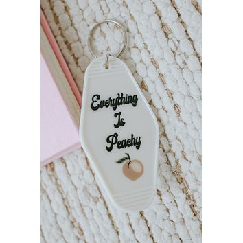 Everything Is Peachy Keychain