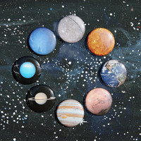 "1"" planet buttons"