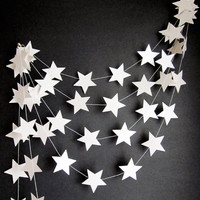 White Stars Garland  Outer Space Decor  Kids Room by ArtsDelight