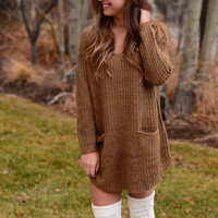 Heartstrings Sweater - Mocha