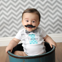BOYS FIRST BIRTHDAY Outfit-Chevron Birthday Party-Chevron Birthday Shirt-Chevron Birthday Bodysuit with Bow Tie and Name-Cake Smash