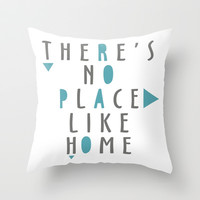 THERE'S NO PLACE LIKE HOME Throw Pillow by hardkitty
