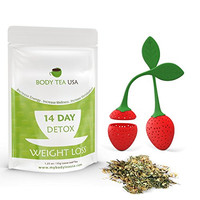 Body Tea USA Flat Tummy Detox Tea 14 Day Skinny Teatox Herbal Slimming Green Tea For Weight Loss And Body Cleanse