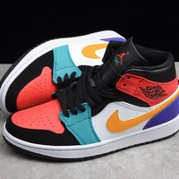 HCXX 19Aug 357 Air Jordan 1 Mid 554724-125 Skateboard Shoes Breathable Casual Sneakers