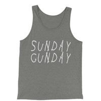 Sunday Gunday Jersey Tank Top for Men