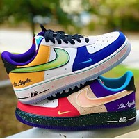 Hipgirls NIKE Air Force 1 Mandarin duck New fashion hook sports leisure low top couple shoes