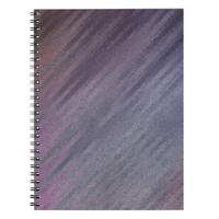Diagonal Silvery Purple Abstract Pattern Spiral Notebook