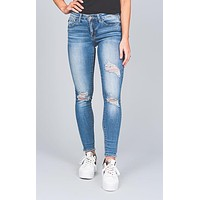 Maria Distressed Relaxed Skinny Jeans