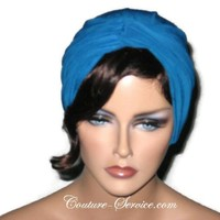 Handmade Blue Twist Turban Teal