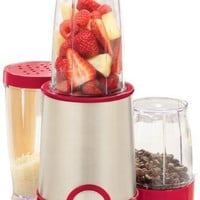 BELLA 13615 12 Piece Blender, Stainless Steel and Red