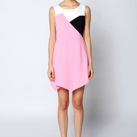Multicolor Asymmetric Dress