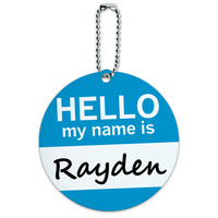 Rayden Hello My Name Is Round ID Card Luggage Tag