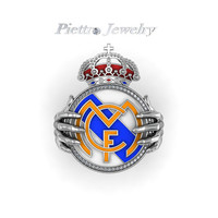 Real Madrid  Jewelry Fashion  Unique Gold Plated Ring