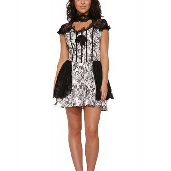 Hearts & Roses Women's Gothic Mini Dress