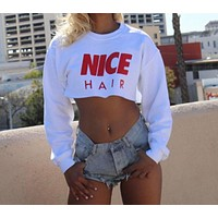 Nice Hair Crop Sweater
