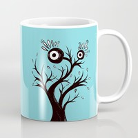Excited Tree Monster Ink Drawing Coffee Mug by borianagiormova