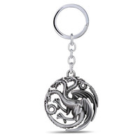 Game of Thrones / Targaryer/  Silver Key Chain/A Song of Ice & Fire