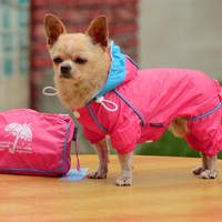 Pet Dog Rain Coat Waterproof Clothes Hoodie Jacket Jumpsuit Apparel Dog Clothes Raincoat For Small Dogs Raincoats girl boy