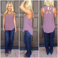 Morning Star Cutout Tank - MAUVE
