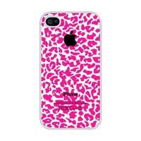 iZERCASE Pink Cheetah Pattern rubber iphone 4 case - Fits iphone 4 & iphone 4s