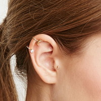 Crescent Faux Gem Ear Cuff