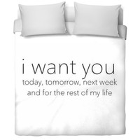 I Want You Bed Set