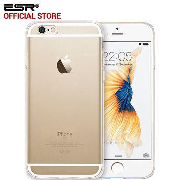 ESR Ultra Thin Perfect Fit Hybrid Case anti-shock TPU Hard Clear Back Cover for iPhone 6/6s