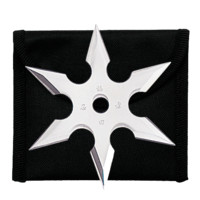"""4"""" Throwing Star with Nylon Pouch"""