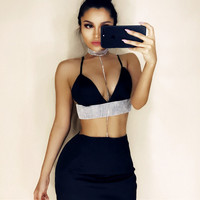 2017 New Women Two Piece Outfits CropTop and Out wear Skirt Set Women Casual Fitness Stretch Satin Suits Summer Women Set Femme