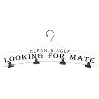 White & Black Looking for Mate Hanger with Clips   Hobby Lobby   989046