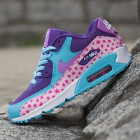 Nike Air Max WMNS 90 Premium Mesh Gs Prism Pink Running Shoes Sport Shoes 724875-600