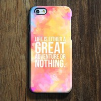 Lift Quote Adventure iPhone XR case iPhone XS Max plus Ethnic  SE  Case Abstract Color Galaxy S8 S6  Case 092