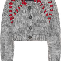 Vivienne Westwood Anglomania - Frankenstein cropped chunky-knit cardigan