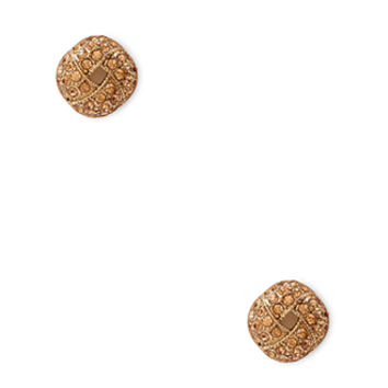 FOREVER 21 Rhinestone Cutout Circle Studs Peach/Gold One