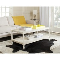 Safavieh Bela White Coffee Table | Overstock.com Shopping - The Best Deals on Coffee, Sofa & End Tables
