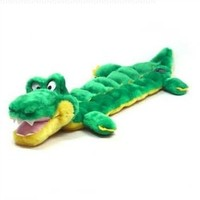 Outward Hound Kyjen  32039 Squeaker Matz Gator 16 Squeaker Plush Squeak Toy Dog Toys, Large, Green