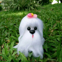 Little Knitting Shih Tzu dog.  Lovely gift for everyone,  kid or couple with love, wedding, birthday gift, or someone special.