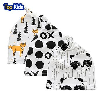 Baby Hat Toddler Cotton Baby Cap Children born Clothes Baby Hat Caps For Girls And Boys 3Pcs