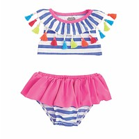 MUD PIE TASSEL 2 PC SWIMSUIT