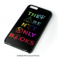 Divergent Hunger Game Harry Potter Book Quotes Design for iPhone 4 4S 5 5S 5C 6 6 Plus, and iPod Touch 4 5 Case