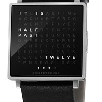 Qlocktwo W Brushed Steel   Free Worldwide Shipping from Watchismo.com