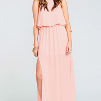 Heather Halter Dress ~ Frosty Pink Crisp
