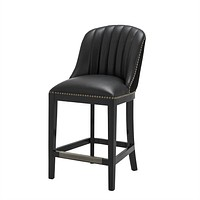 Black Leather Counter Stool | Eichholtz Balmore