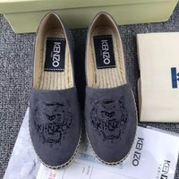 KENZO Fashion Espadrilles For Women Shoes Black G-ALS-XZ