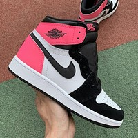 Nike Jordan AJ high top basketball shoes sports shoes fashion men's and women's sports shoes