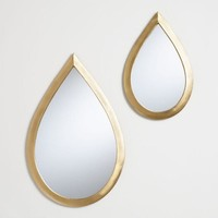 Gold Teardrop Wall Mirror