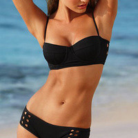 Black Fashion Sexy Hollow Swimsuit
