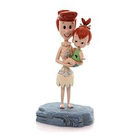 Jim Shore BEAUTIFUL BOND Polyresin Wilma & Pebbles Flintsone