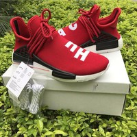 Best Online Sale Pharrell Williams  x Adidas PW HU Human Race NMD Hu Red Boost Sport Running Shoes Classic Casual Shoes Sneakers