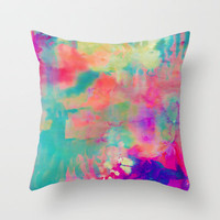 Bliss Throw Pillow by Amy Sia